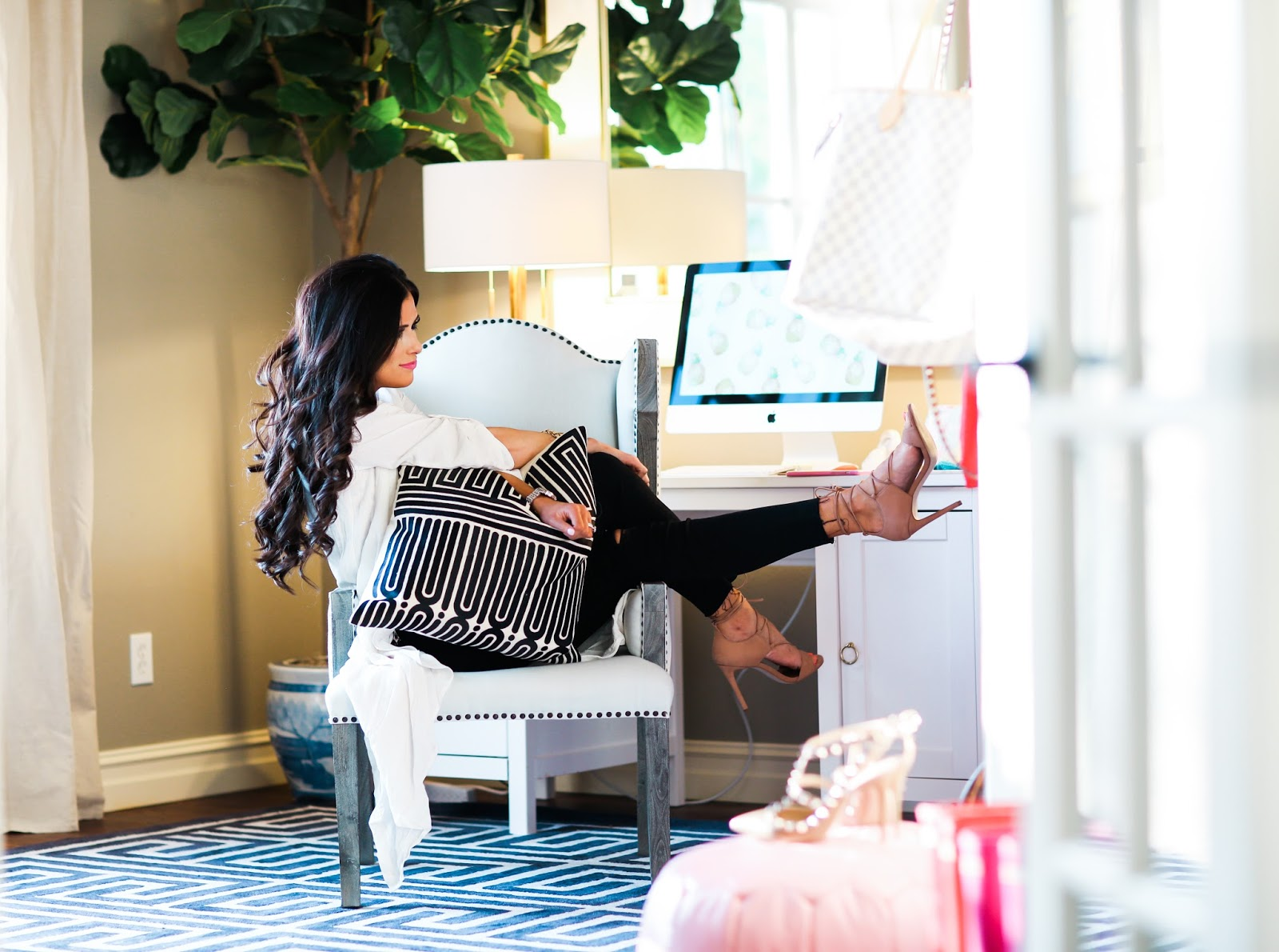 Home office tour part 1 the sweetest thing bloglovin for Blogs on decorating homes