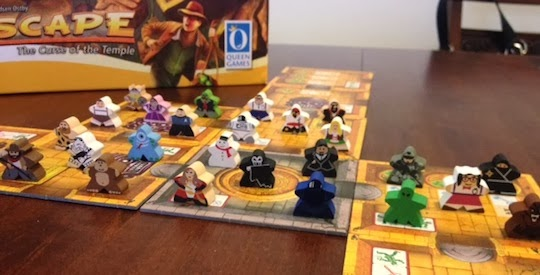Escape game with custom meeples