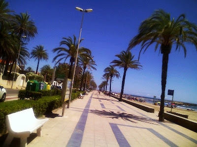 Beach promenade of Cunit