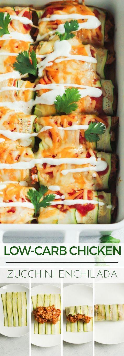Low-carb Chicken Zucchini Enchilada