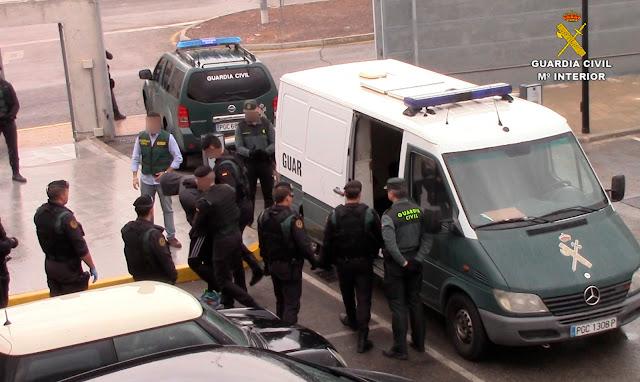 Los detenidos son puestos a disposición de la autoridad judicial