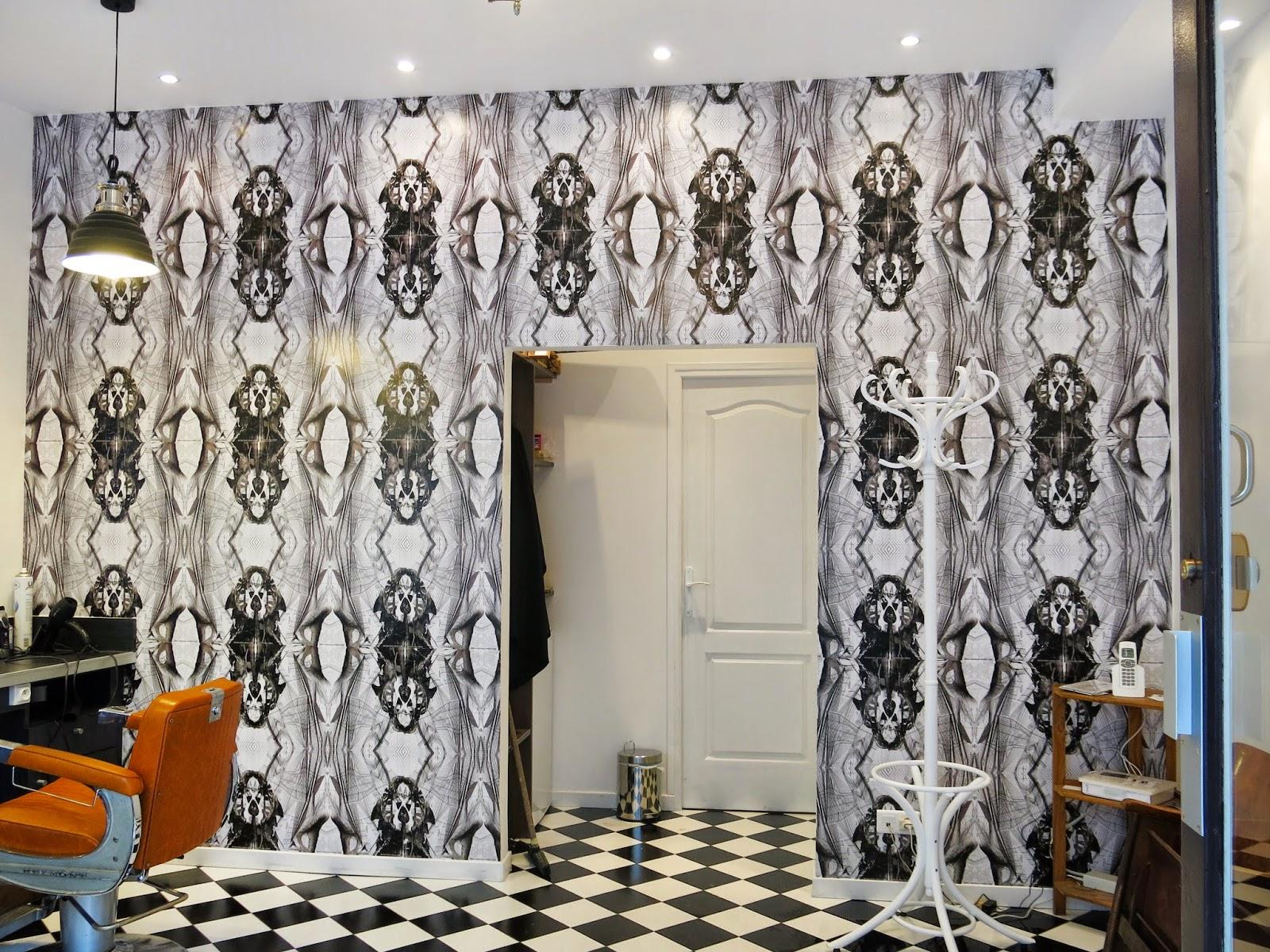 jorge ayala le barbier de monge barber shop in paris jorge ayala paris interiors wallpaper