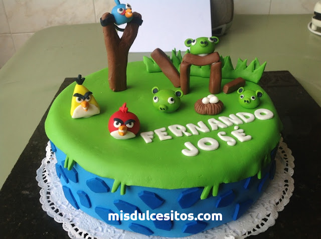 Tortas Angry Birds. Venta de tortas en todo Lima, Surco, San Borja, Miraflores, San Isidro