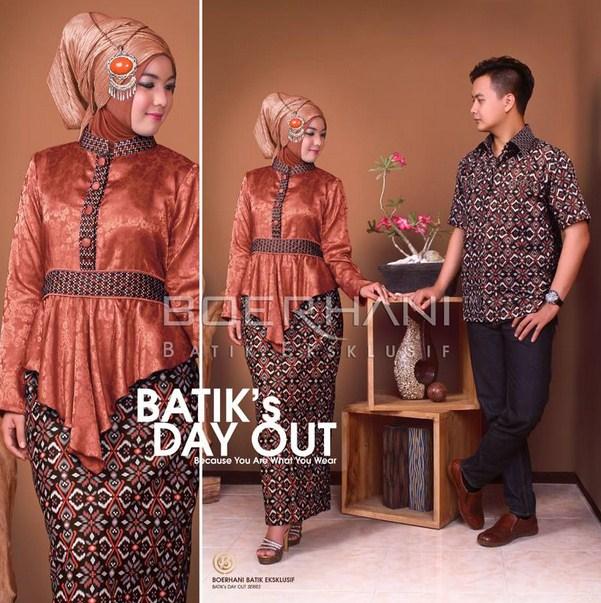 Pilihan Baju Muslim Batik Pasangan Terbaru  Trend Fashion Terbaru