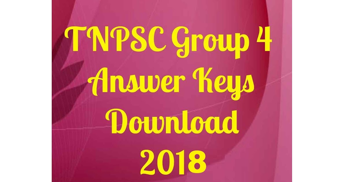 Tnpsc Group 4 Exam Answer Key 2013 Pdf