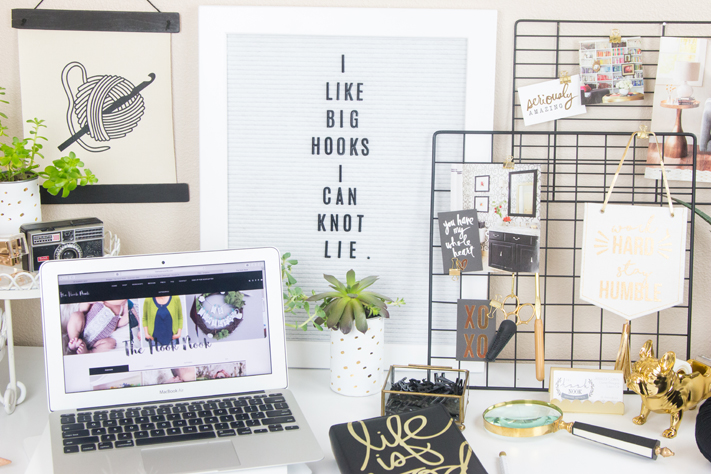 The Hook Nook Craft and Office Makeover by @createoften for @thehooknook