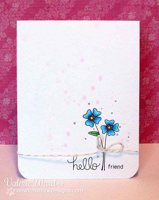 Simple Flower Card by Valerie Ward for Newton's Nook Designs | Versatile Vases