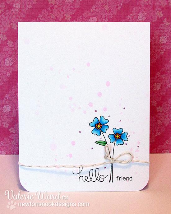 Simple Flower Card by Valerie Ward for Newton's Nook Designs | Versatile Vases