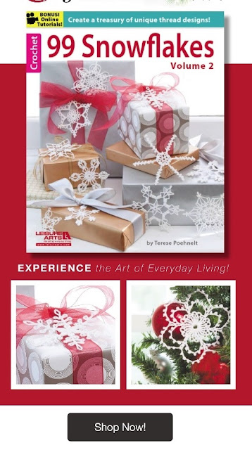 Crochet 99 Snowflake patterns in different sizes and shapes