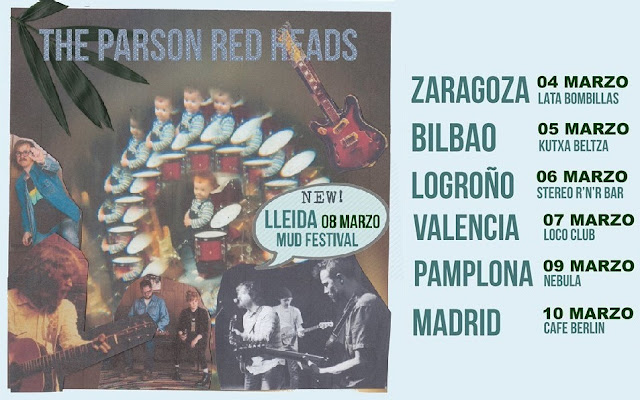 Que vuelven The Parson Red Heads - Spain Tour - 7 citas en marzo