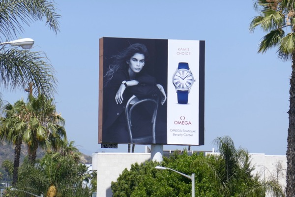 Kaia Gerber Omega watch billboard