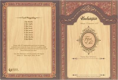 Download Blangko Undangan ERA BARU 88181 Undangan Murah Warna Cokelat