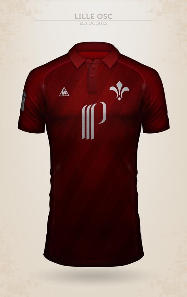 Projet de design du maillot du LOSC avec Le Coq Sportif
