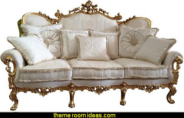 Camas, Sofa mod. Caravaggio Luxury bedroom designs - Marie Antoinette Style theme decorating ideas - French provincial furniture baroque style - Louis XVI furniture - Rococo furniture - baroque furniture - marie antoinette bedroom ideas - marie antoinette bedroom furniture