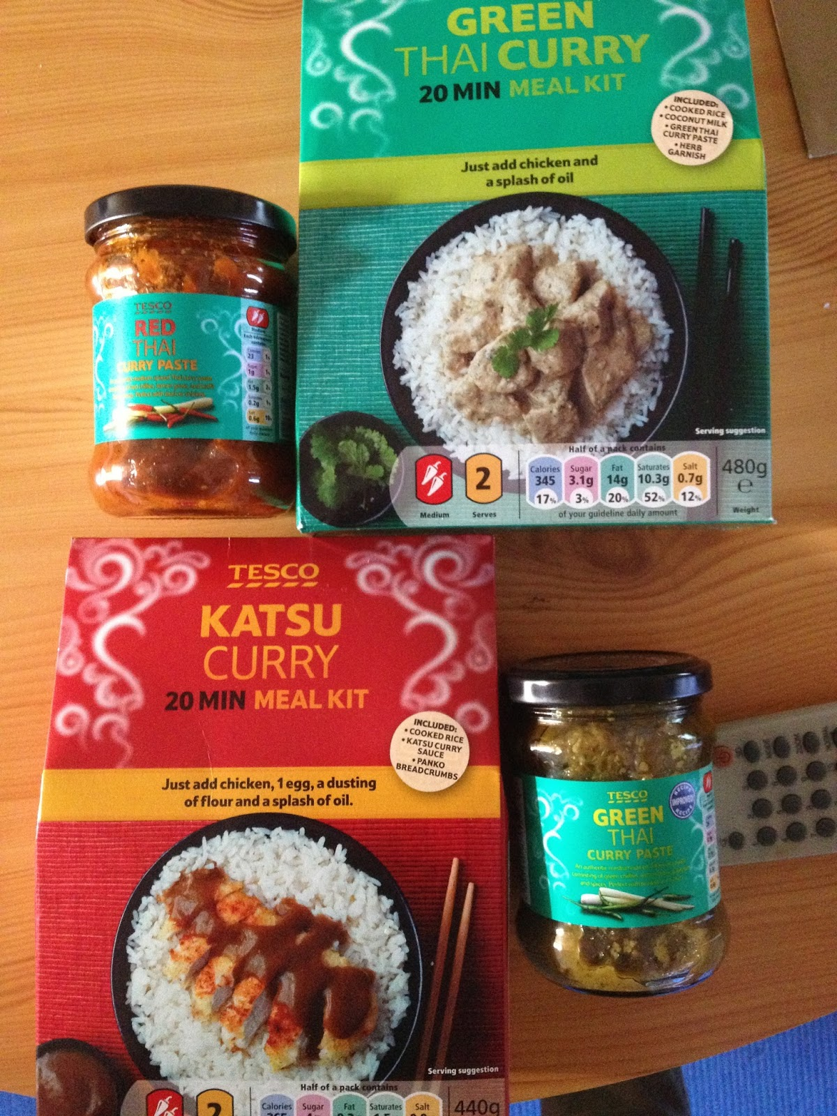 Foodstuff Finds Tesco Thai Green Curry 20 Min Meal Kit By