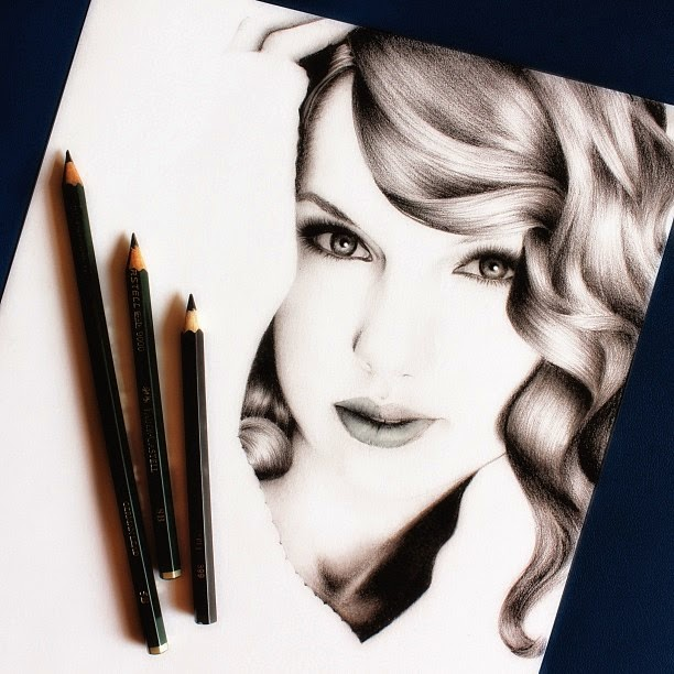 15-Taylor-Swift-Raymond-Gunawan-Minimalist-Celebrity-Drawings-mostly-Black-and-White-www-designstack-co