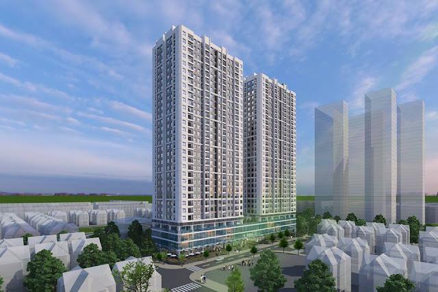 Cảnh quan chung cư ICID Complex Lê Trọng Tấn