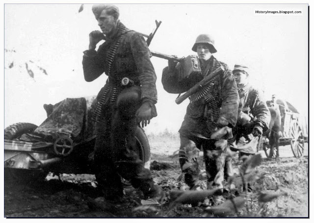 Waffen SS soldiers in Hungary in 1945. It was a desperate losing battle for these tough, motivated fighters