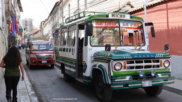 Public Transportation - Old Traditional Bus in La Paz, Bolivia