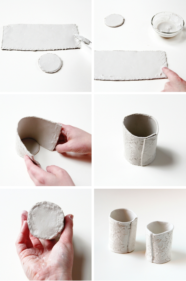 Make Diy Stamped Clay Pots