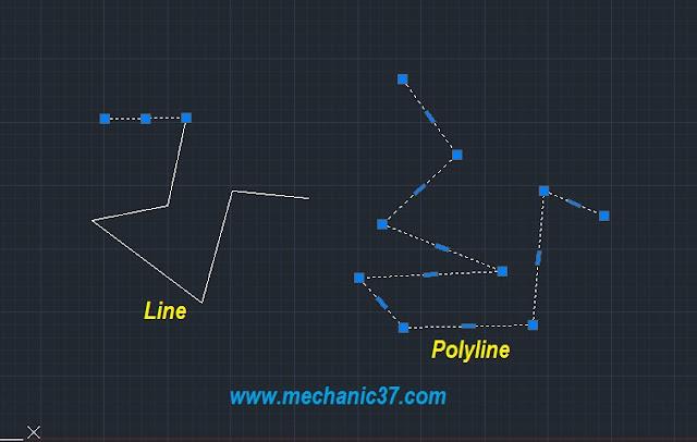 polyline से हम object को simple और अच्छी तरह से बना सकते है
