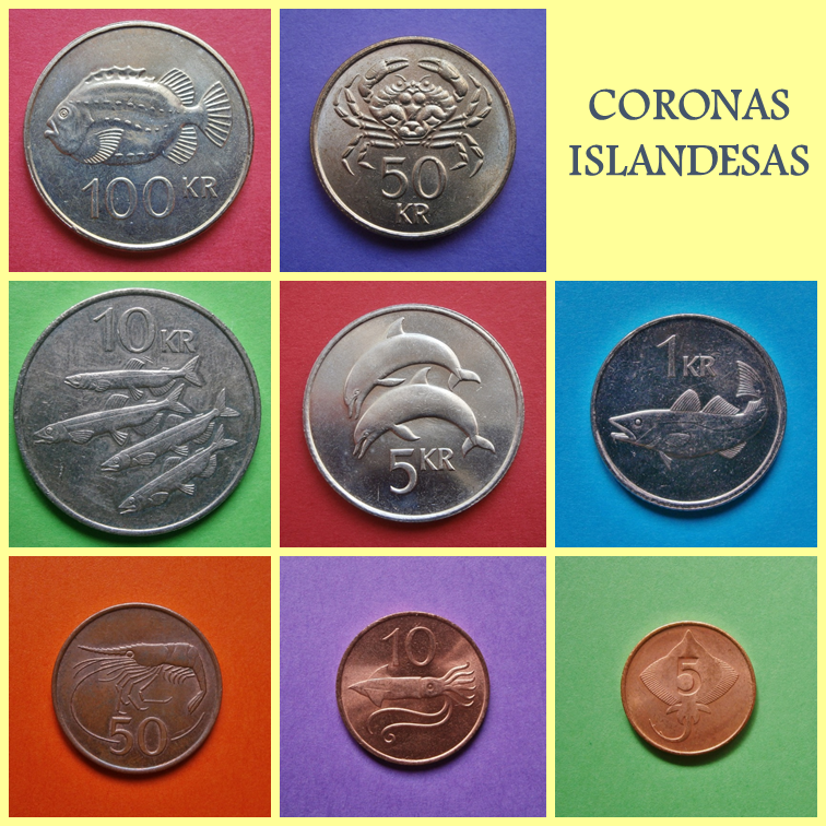 Monedas y Mundo: Coronas Islandesas