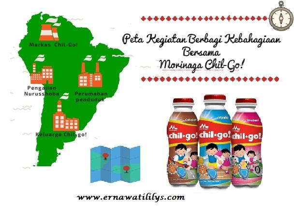 Peta Acara Kegiatan Berbagi Kebahagiaan Bersama Morinaga Chil-Go!