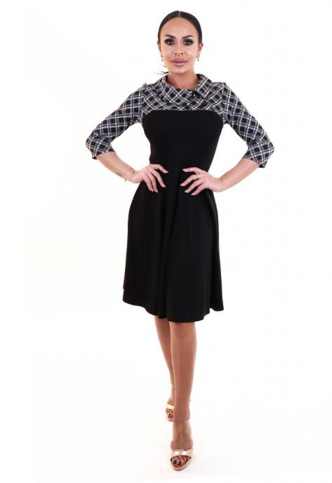 Rochie midi in stil vintage cu maneci trei sferturi  HongKong Nice-forever Fashion