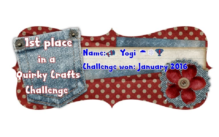 Won Jan/16 Quirky Crafts