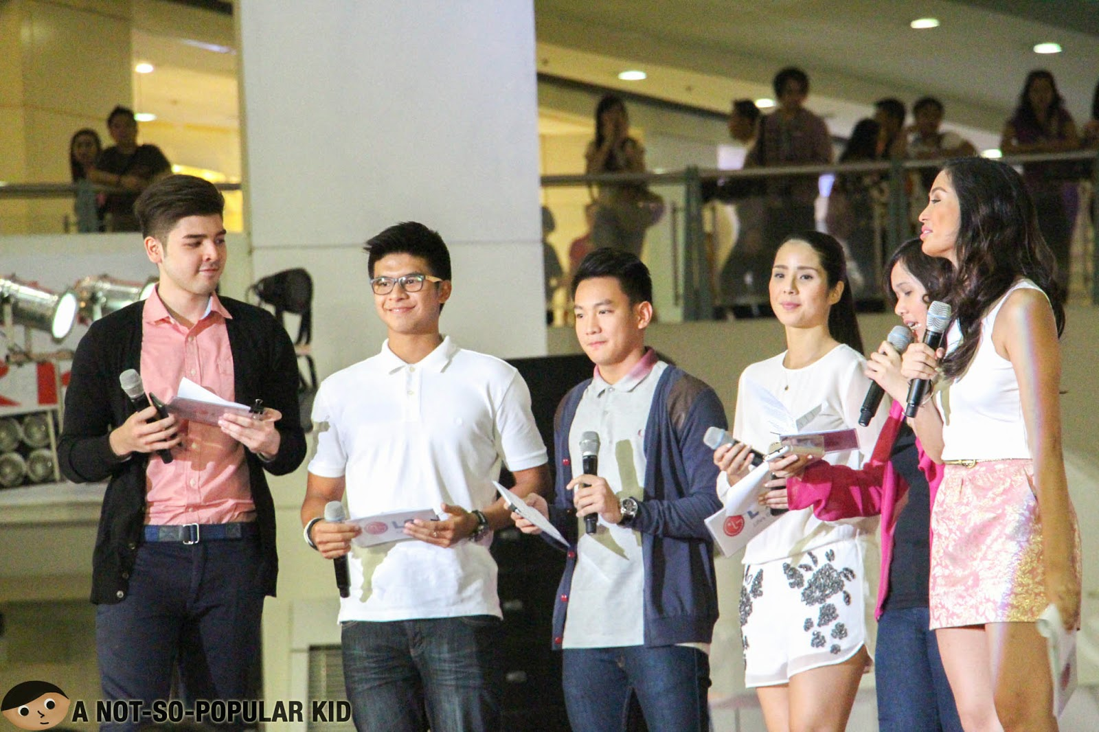 Ina Ongsiako with Andre Paras, Kiefer Ravena, Thomas Torres and Maxene Magalona