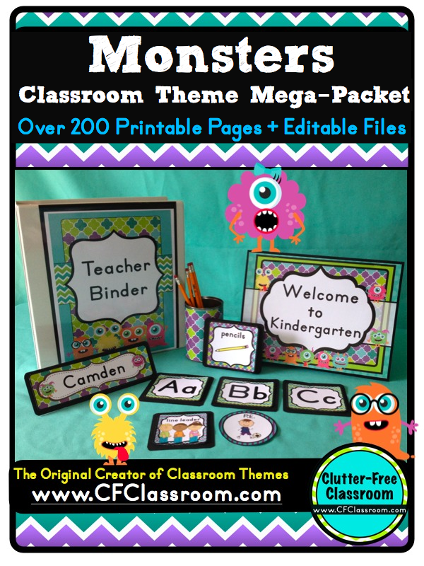 Classroom Decor Download : Monster themed classrooms clutter free classroom