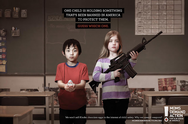 Moms demand action School safety ads. What is allowed and what is prohibited. Kinder Chocolate eggs are too dangerous