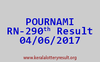 POURNAMI Lottery RN 290 Results 4-6-2017
