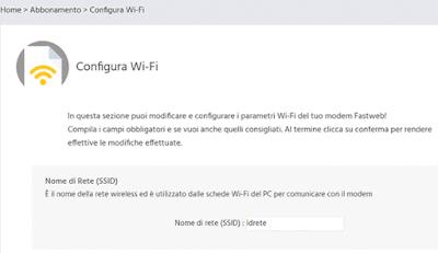 Come configurare il wifi su fastweb