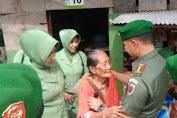 Meriahkan HUT TNI Ke 72, Dandim 1415 Dan Ketua Persit KCK Kunjungi Warakauri Dan Bantu Warga Miskin