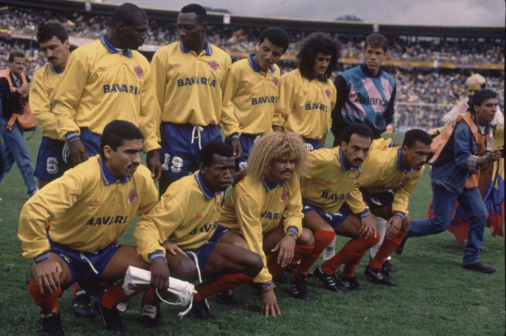 Formación de Colombia ante Chile, amistoso disputado el 6 de junio de 1993