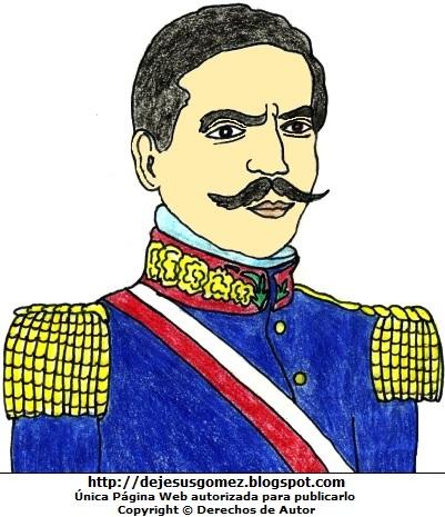 Dibujo de Ramón Castilla a colores para niños por Jesus Gómez