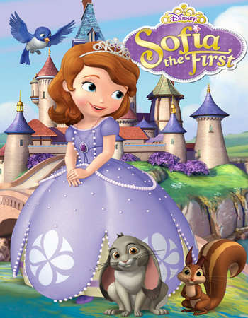 Poster Of Sofia the First Once Upon a Princess 2012 Dual Audio 1080p Web-DL [Hindi - English] ESubs Free Download Watch Online Worldfree4u