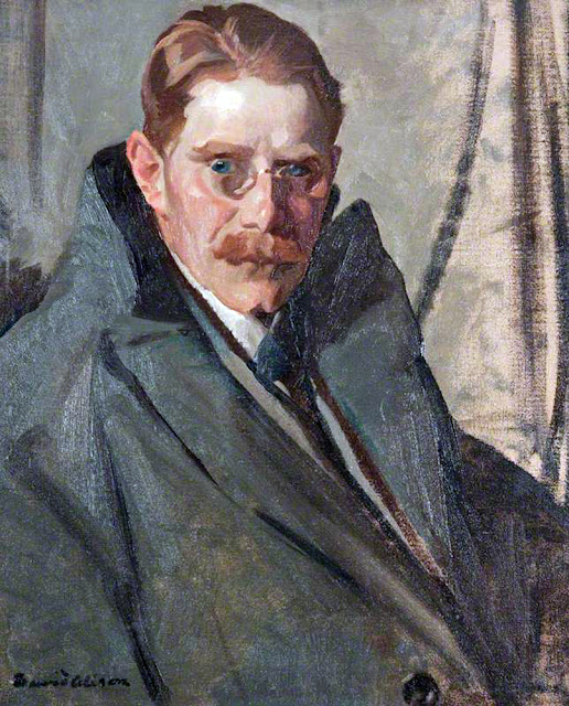 David Alison, Self Portrait, Portraits of Painters, Fine arts, portraits of painters blog, Paintings of David Alison, Painter David Alison
