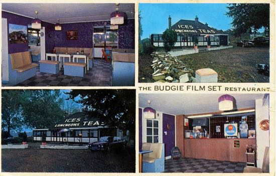 Postcard of the Budgie Cafe, Dixons Hill Road - 1970s  Image from the Peter Miller Collection
