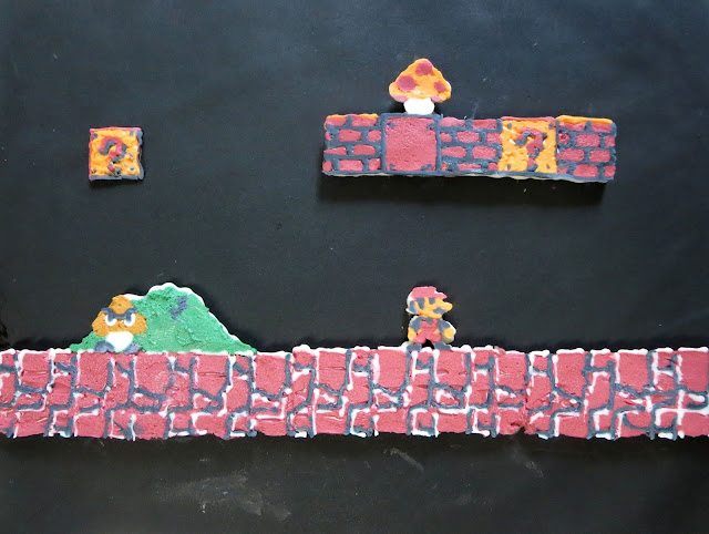 Retro Video Game Cake - Close Up of Mario Side