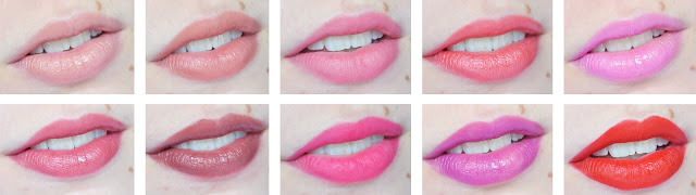 A picture of Collection Cosmetics Lasting Colour Lipstick Swatches