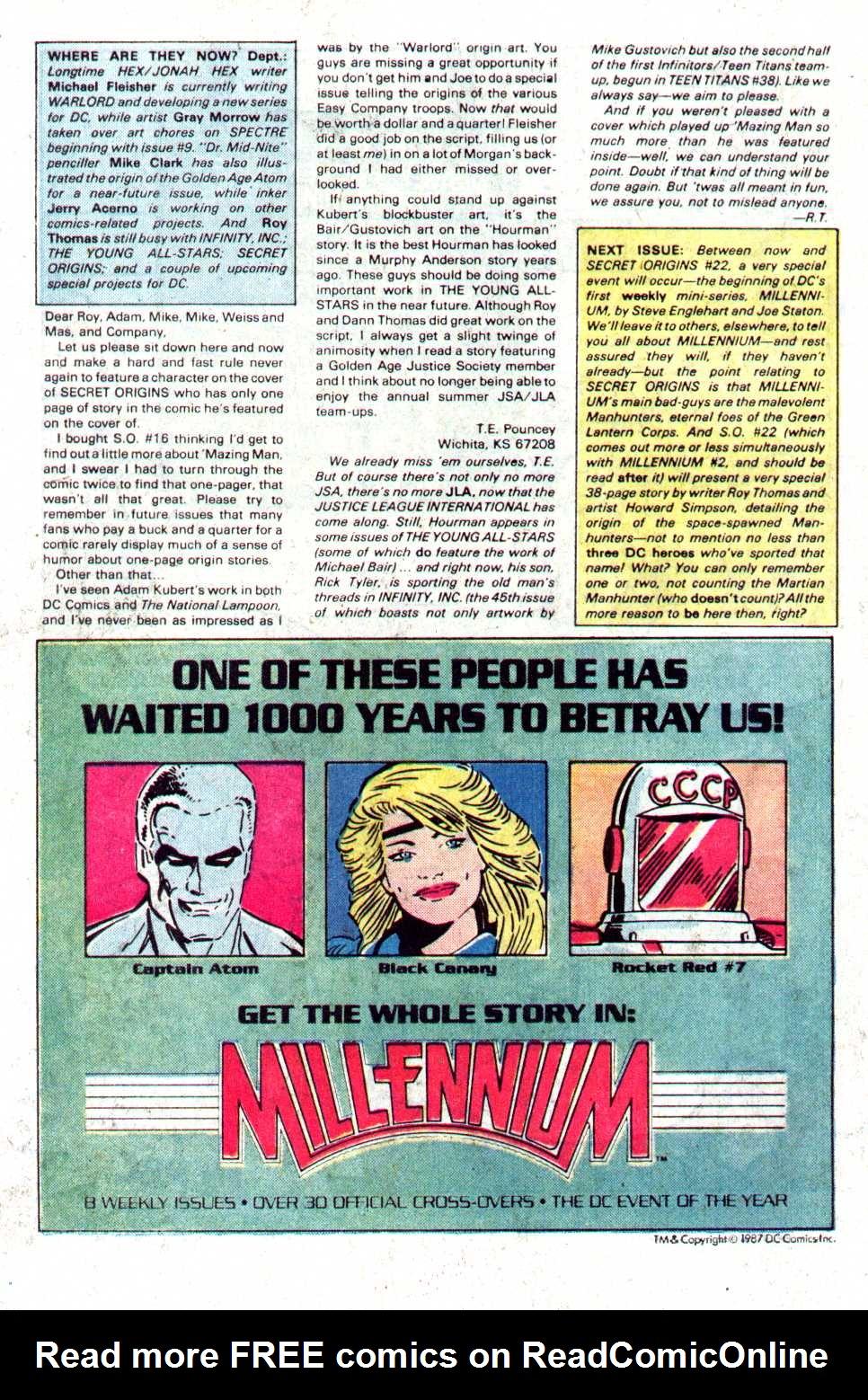 Read online Secret Origins (1986) comic -  Issue #21 - 23