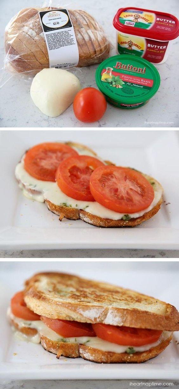 GRILLED CAPRESE SANDWICH #grilled #caprese #sandwich #veggies #vegetarianrecipes