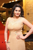 Actress Himaja Stills in Golden Spicy Long Dress at SIIMA Short Film Awards 2017 .COM 0283.JPG