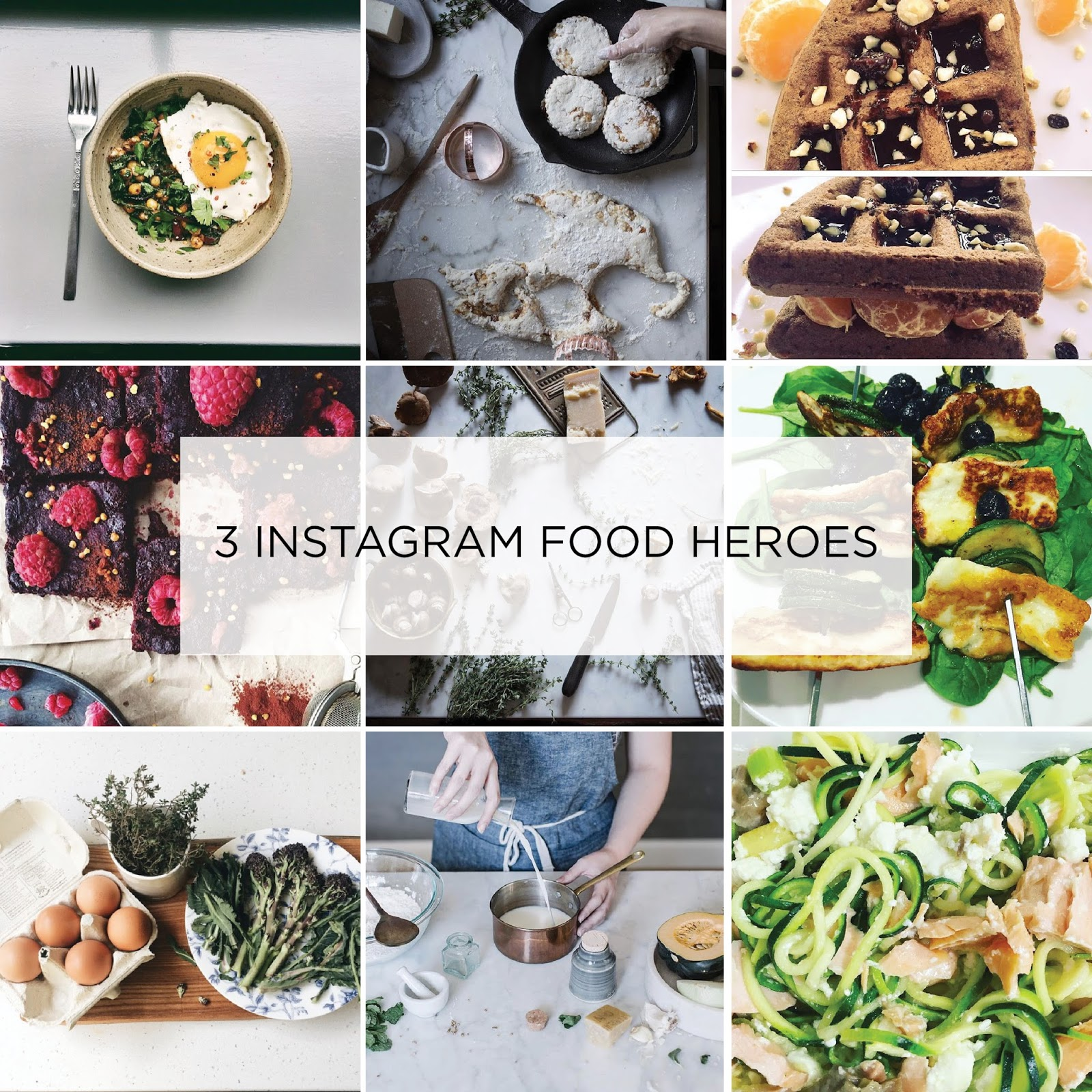 Healthy food feeds on Instagram