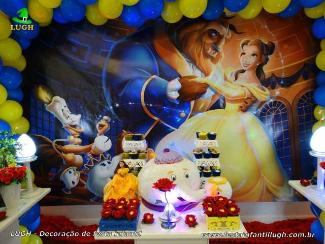 Festa de aniversário A Bela e a Fera