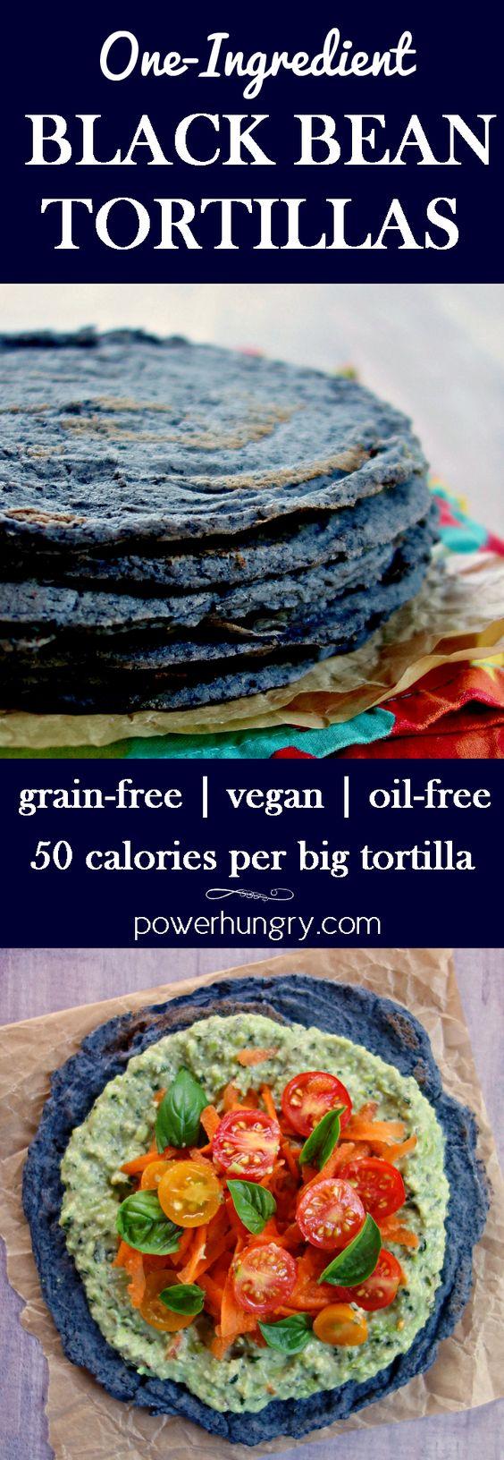 1-Ingredient Black Bean Tortillas {Grain-Free, Vegan}