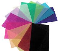 Siyah beyaz ve renkli pelür kağıtları
