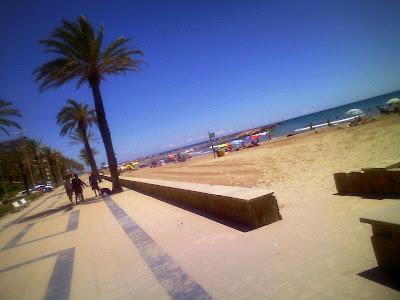 Beach promenade of Cunit